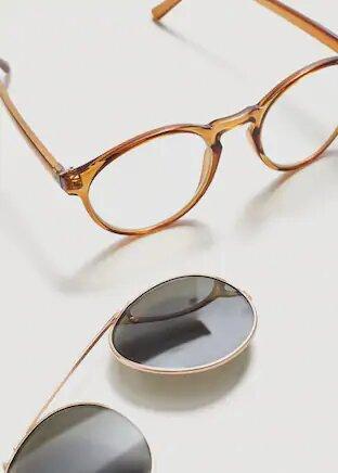 Materia del las gafas con clip on